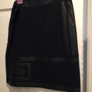 Etcetera leather and knit mod skirt